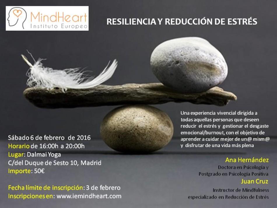 Cartel Resiliencia y Reducción de Estrés